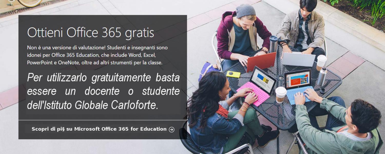 Ottieni Microsoft Office 365 Education gratis
